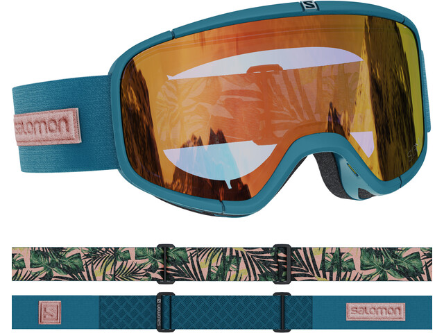 Salomon Four Seven Sigma Gafas, Azul petróleo/naranja